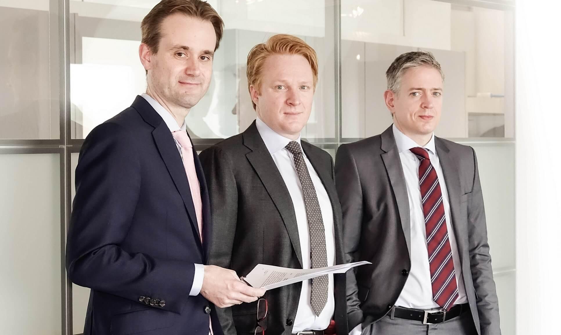 Stefan Tönz with Dr. Xavier Borghi and Dr. iur. Denis Oliver Adler